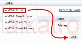 Menambahkan Email ke Akun Paypal