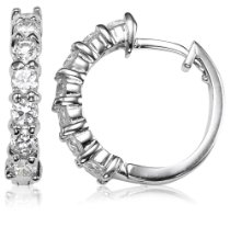 More about Sterling Silver Cubic Zirconia HoopEarrings