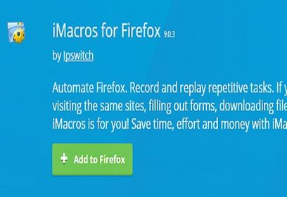 cara install add on imacros-firefox