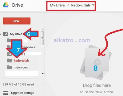 cara mengunggah gambar-ke folder googledrive