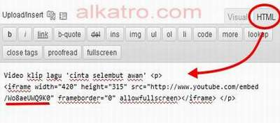Cara Memasang Video Youtube di Blog | kode html embed video youtube Cara Memasang Video Youtube di Blog cara