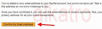 cara konfirmasi email paypal