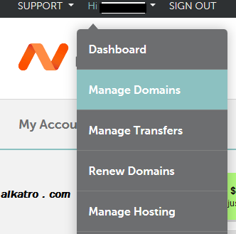manage-domain namecheap