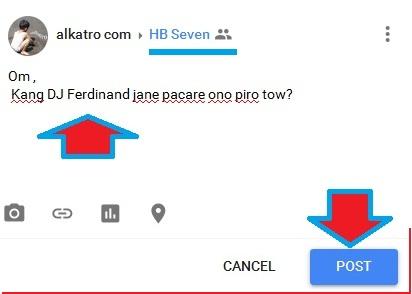 cara mengirim private message di-googleplus om hb Seven