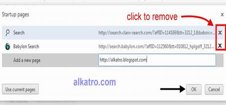 Remove search.babylon.com from Google Chrome