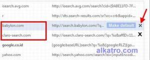 remove searchbabyloncom from googlechrome