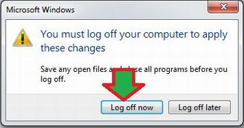 cara Log off Windows