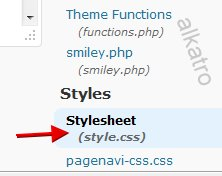 edit style css wordpress