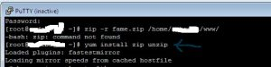 zip-command-not-found,[Centos VPS]